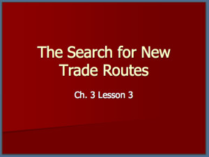 Search For Trade Routes