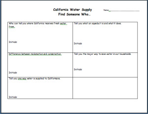 CA Water Supply Find Someone