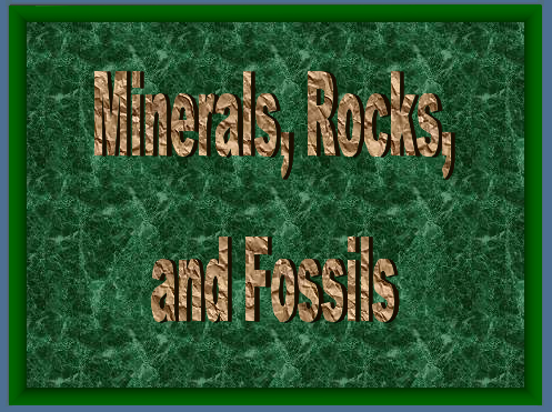 Minerals and Rocks Pwpt