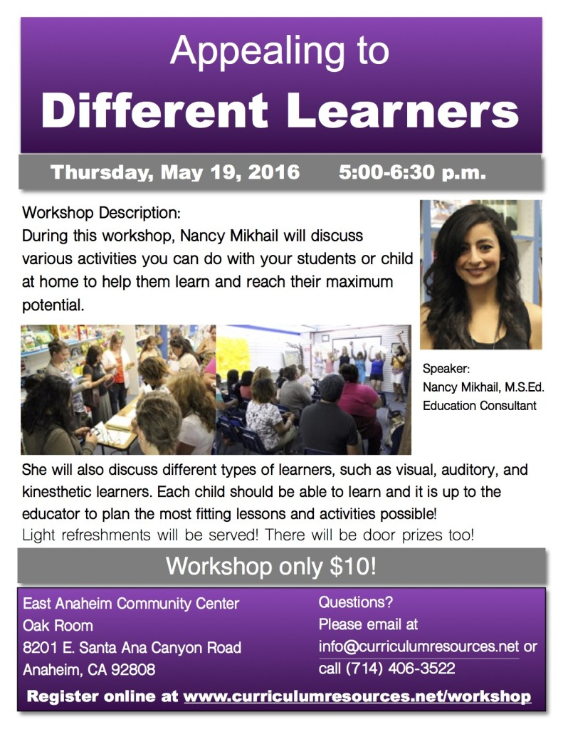 Different Learners Flyers